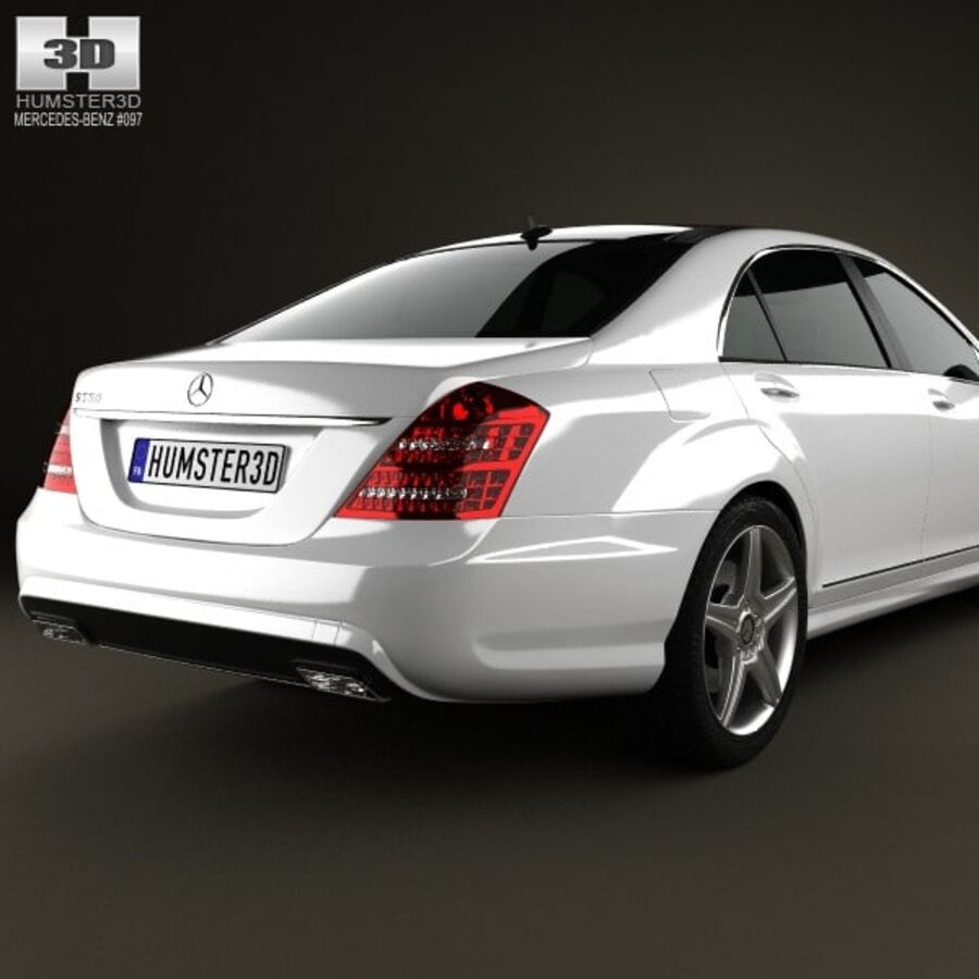 Mercedes-Benz S-Class (W221) 2012 royalty-free 3d model - Preview no. 7