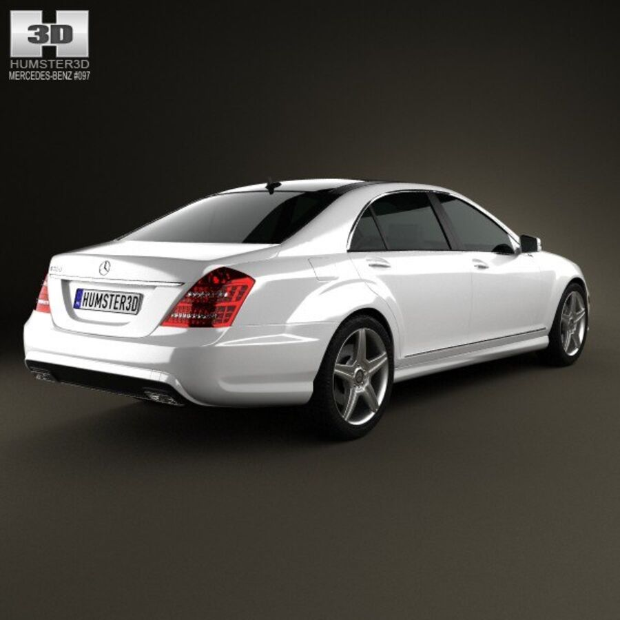 Mercedes-Benz S-Class (W221) 2012 royalty-free 3d model - Preview no. 2
