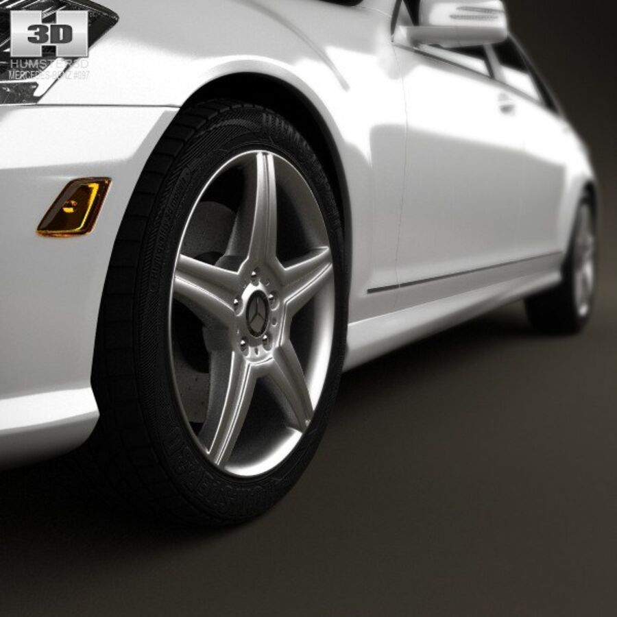 Mercedes-Benz S-Class (W221) 2012 royalty-free 3d model - Preview no. 8