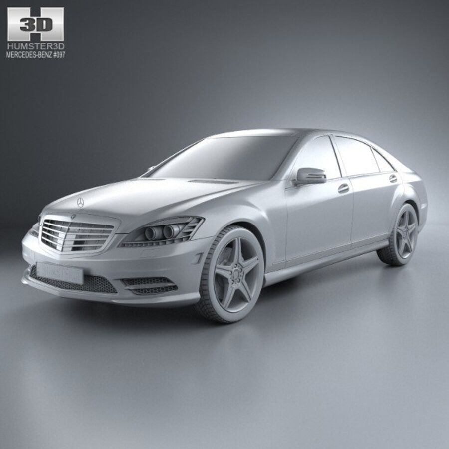 Mercedes-Benz S-Class (W221) 2012 royalty-free 3d model - Preview no. 11
