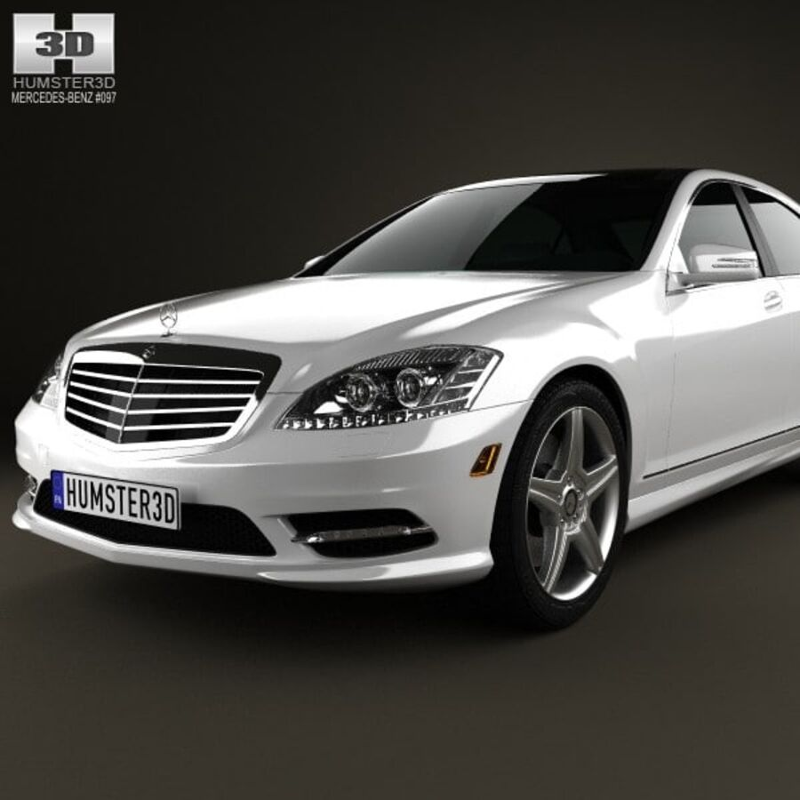 Mercedes-Benz S-Class (W221) 2012 royalty-free 3d model - Preview no. 6