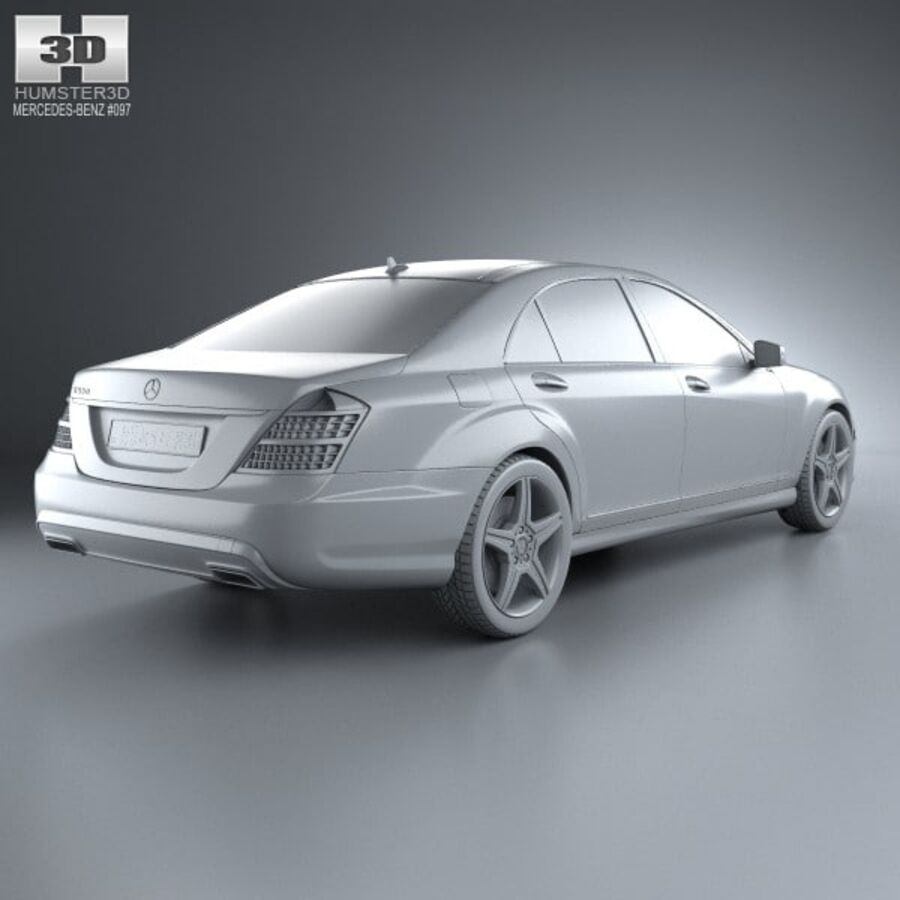 Mercedes-Benz S-Class (W221) 2012 royalty-free 3d model - Preview no. 12