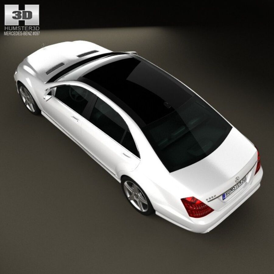 Mercedes-Benz S-Class (W221) 2012 royalty-free 3d model - Preview no. 9