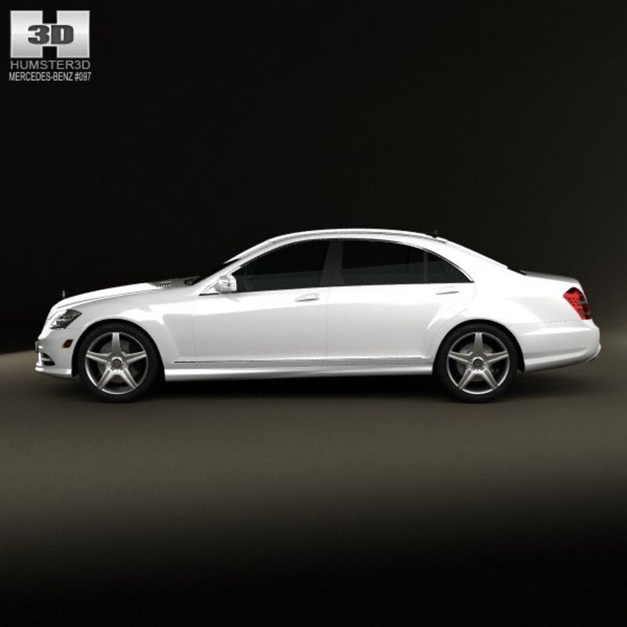Mercedes-Benz S-Class (W221) 2012 royalty-free 3d model - Preview no. 5