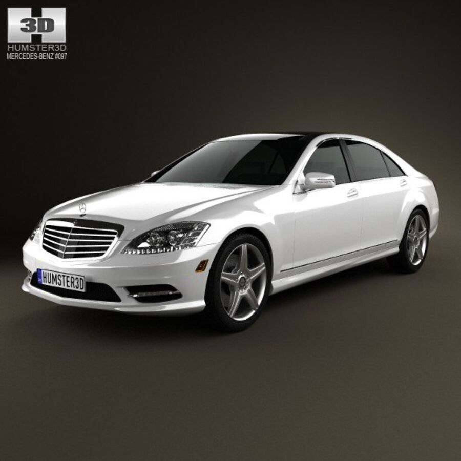Mercedes-Benz S-Class (W221) 2012 royalty-free 3d model - Preview no. 1