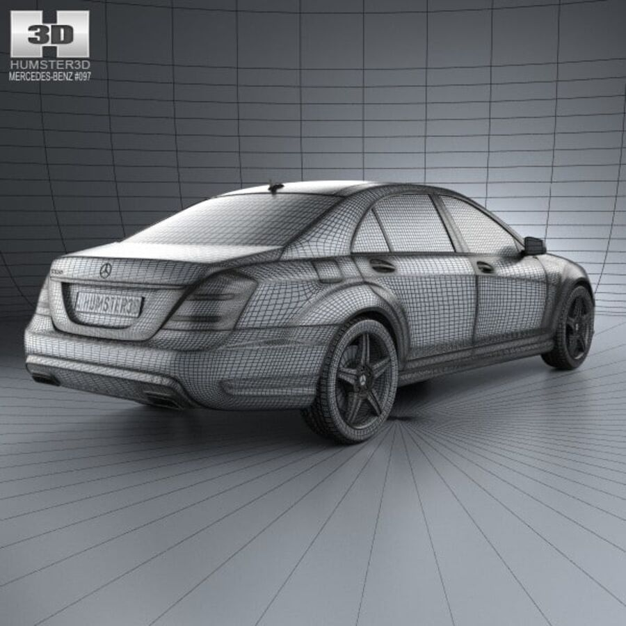 Mercedes-Benz S-Class (W221) 2012 royalty-free 3d model - Preview no. 4
