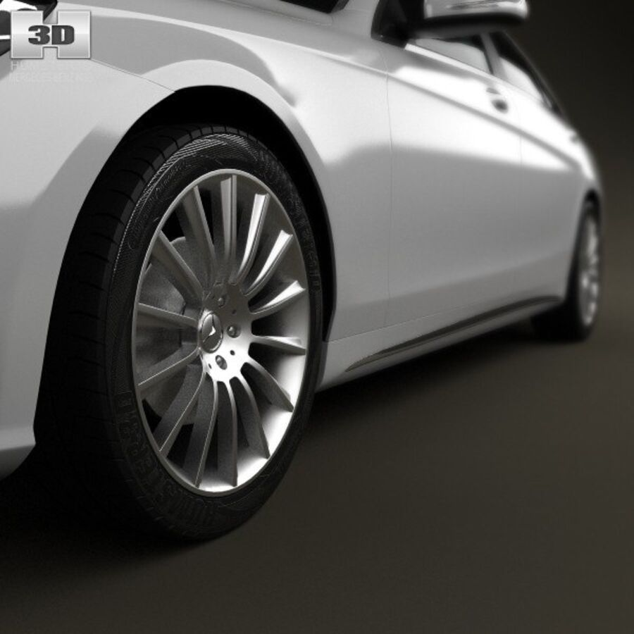 Mercedes-Benz S-Class (W222) 2014 royalty-free 3d model - Preview no. 8