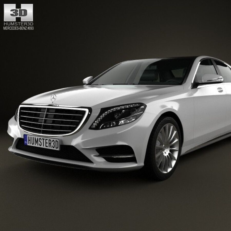 Mercedes-Benz S-Class (W222) 2014 royalty-free 3d model - Preview no. 6