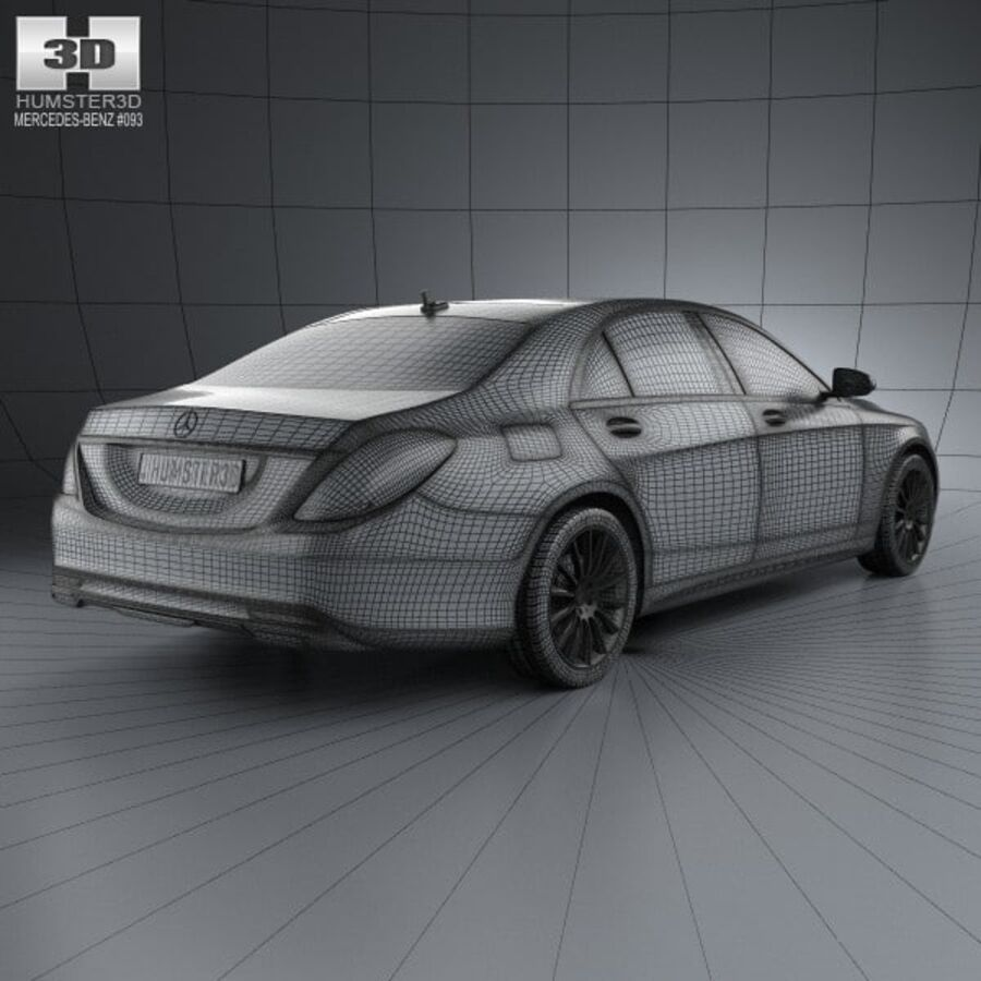 Mercedes-Benz S-Class (W222) 2014 royalty-free 3d model - Preview no. 4