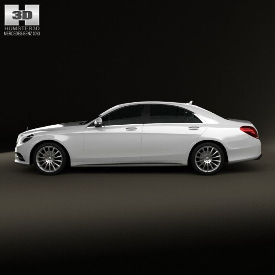 Mercedes-Benz S-Class (W222) 2014 royalty-free 3d model - Preview no. 5