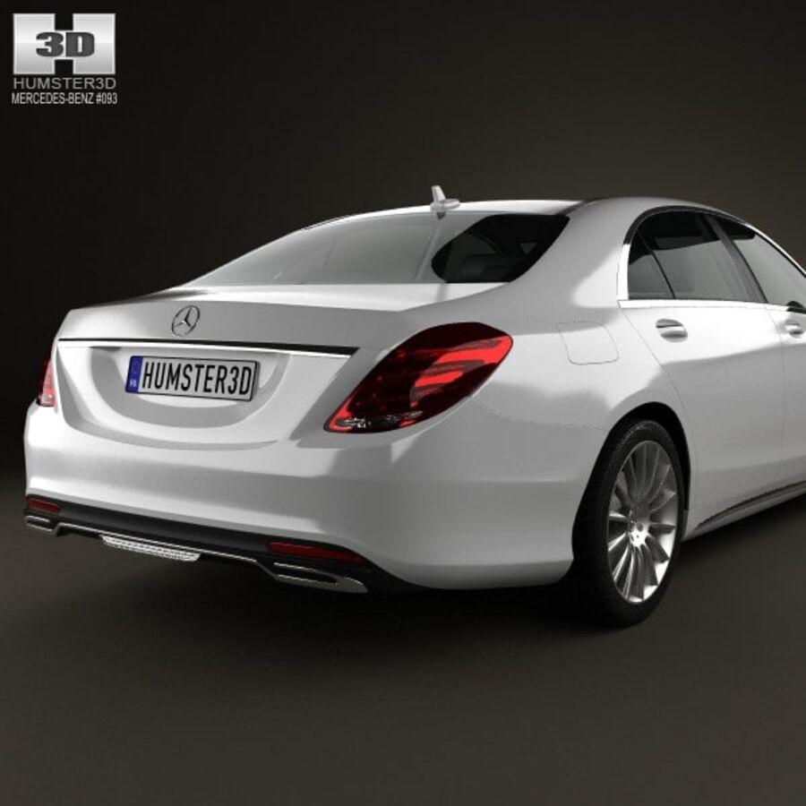Mercedes-Benz S-Class (W222) 2014 royalty-free 3d model - Preview no. 7