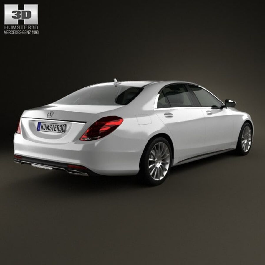 Mercedes-Benz S-Class (W222) 2014 royalty-free 3d model - Preview no. 2