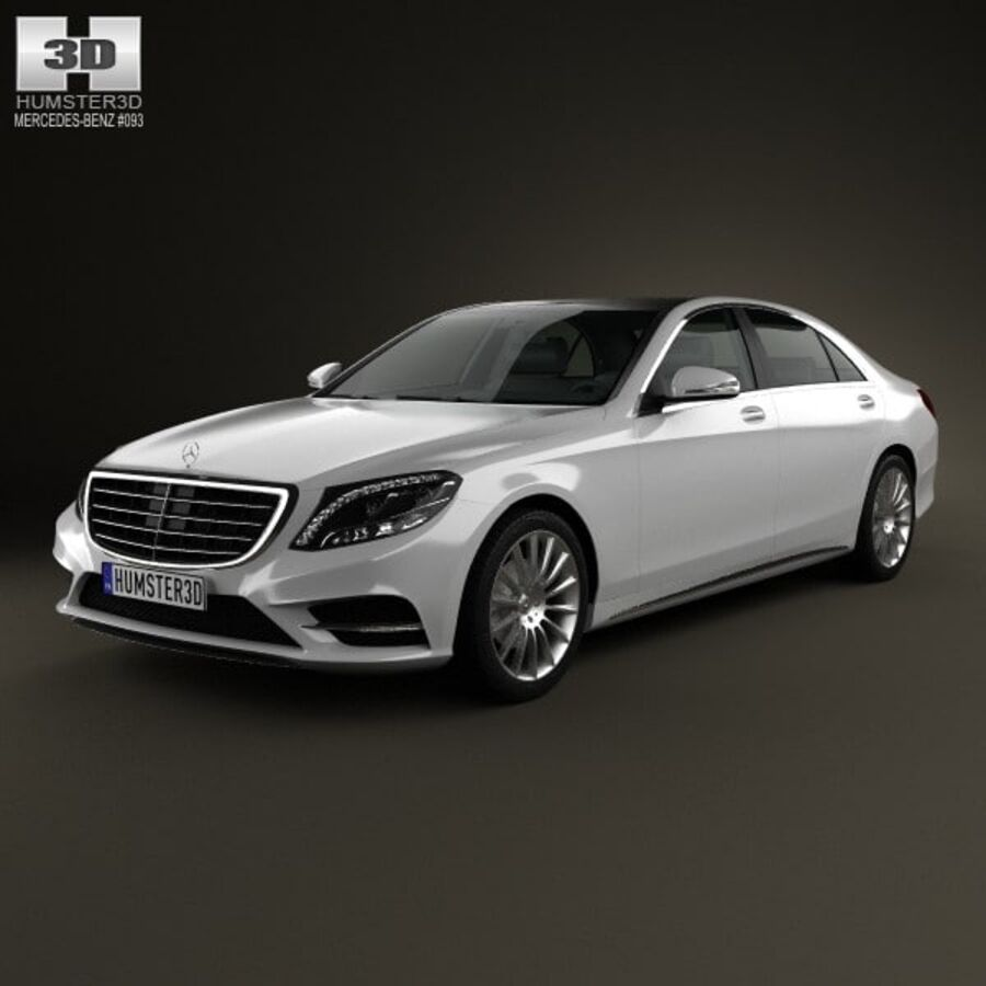 Mercedes-Benz S-Class (W222) 2014 royalty-free 3d model - Preview no. 1