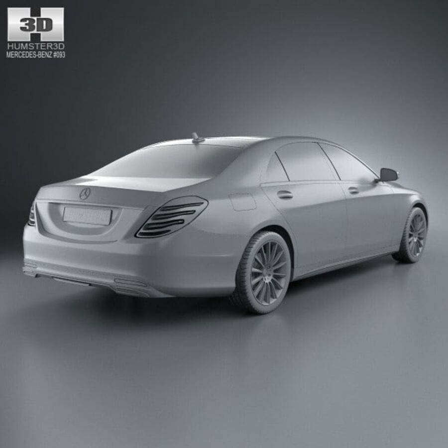 Mercedes-Benz S-Class (W222) 2014 royalty-free 3d model - Preview no. 12