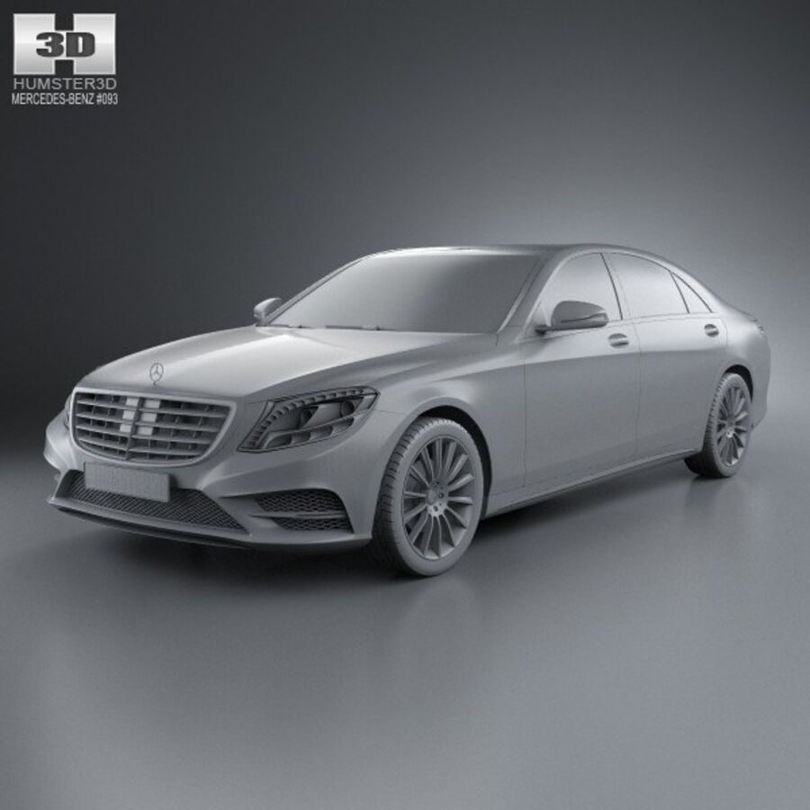 Mercedes-Benz S-Class (W222) 2014 royalty-free 3d model - Preview no. 11