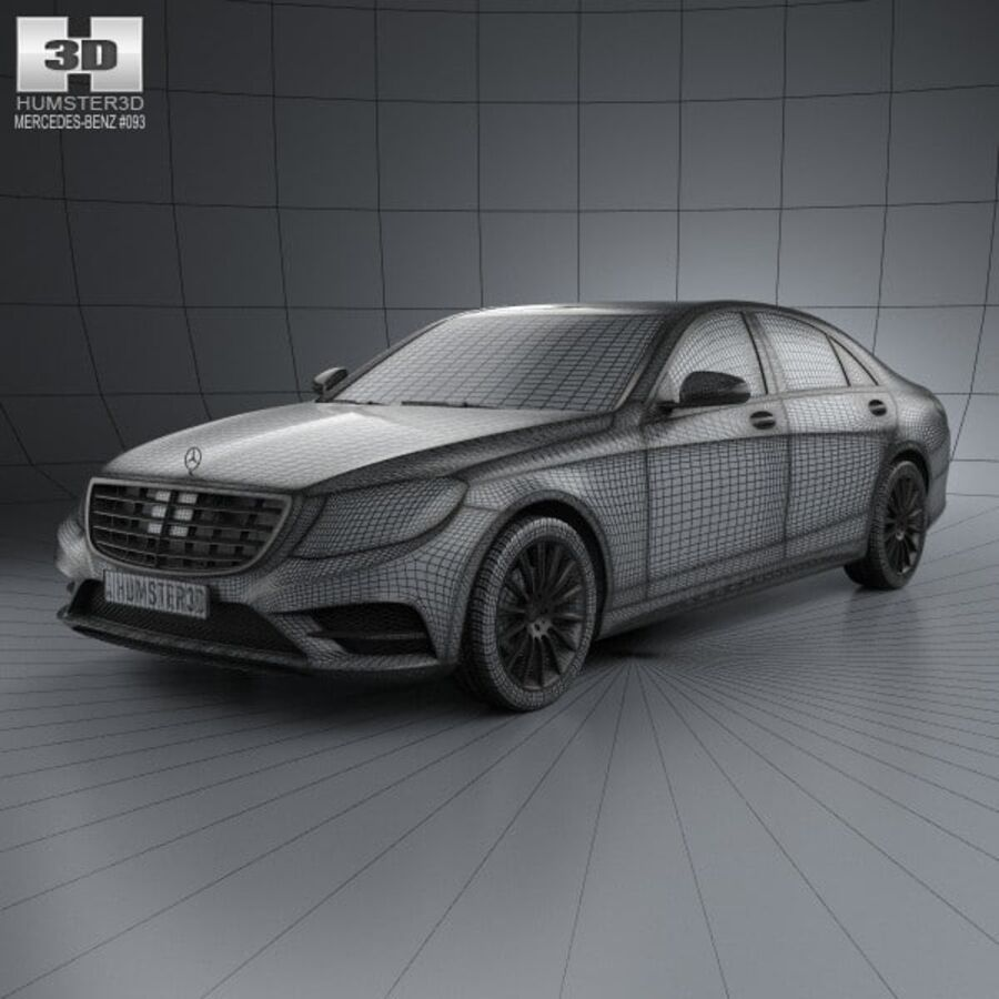 Mercedes-Benz S-Class (W222) 2014 royalty-free 3d model - Preview no. 3