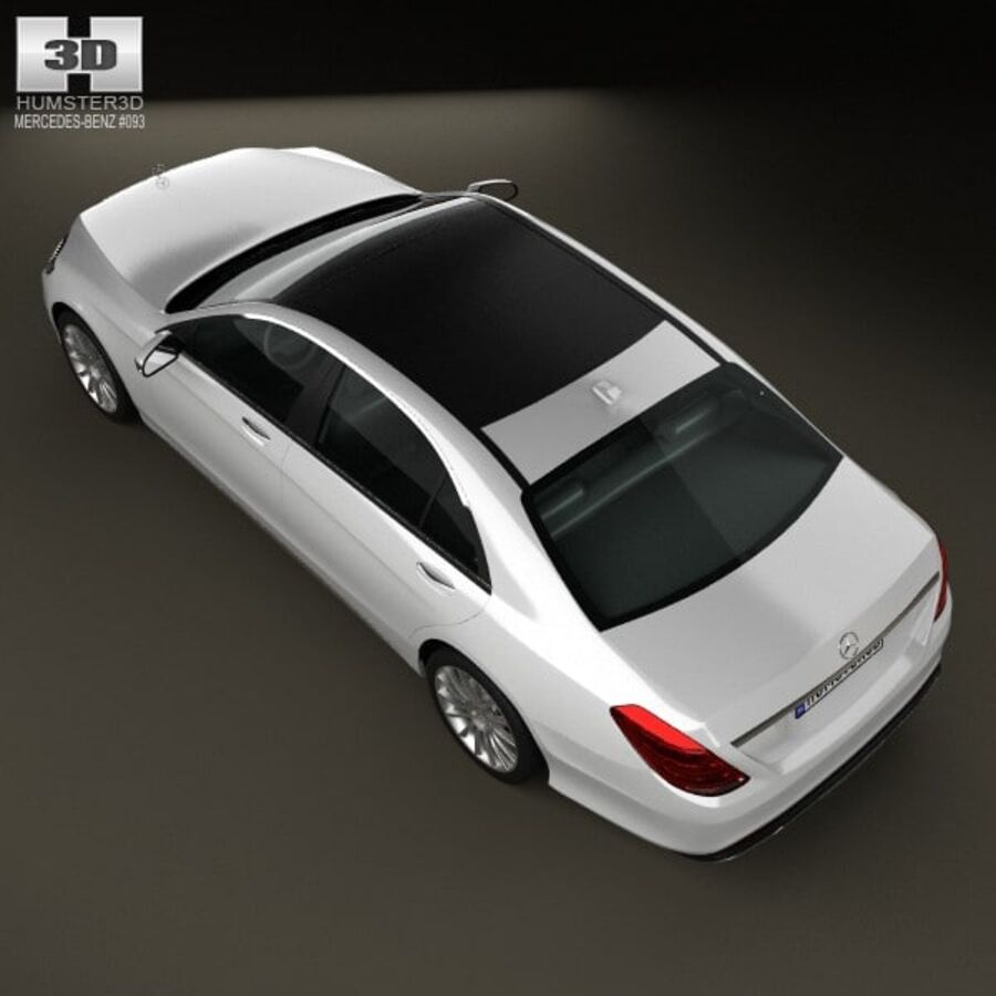 Mercedes-Benz S-Class (W222) 2014 royalty-free 3d model - Preview no. 9