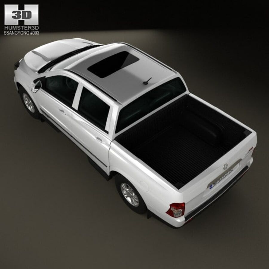 双龙Korando Sports(New Actyon)2012 royalty-free 3d model - Preview no. 9