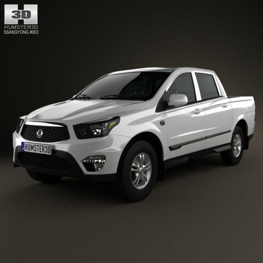 双龙Korando Sports(New Actyon)2012 royalty-free 3d model - Preview no. 6