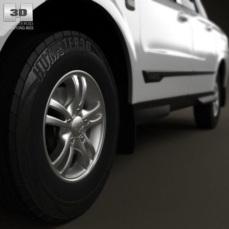 双龙Korando Sports(New Actyon)2012 royalty-free 3d model - Preview no. 8