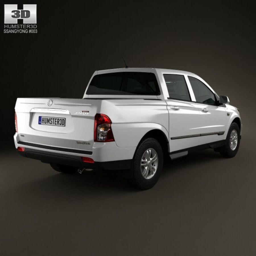 双龙Korando Sports(New Actyon)2012 royalty-free 3d model - Preview no. 2