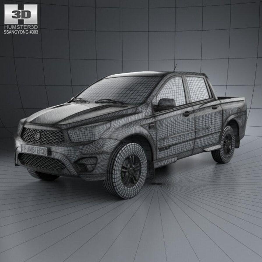 双龙Korando Sports(New Actyon)2012 royalty-free 3d model - Preview no. 3