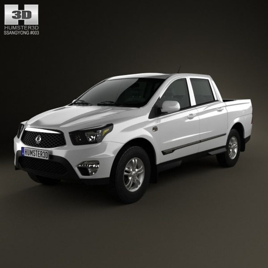 双龙Korando Sports(New Actyon)2012 royalty-free 3d model - Preview no. 1