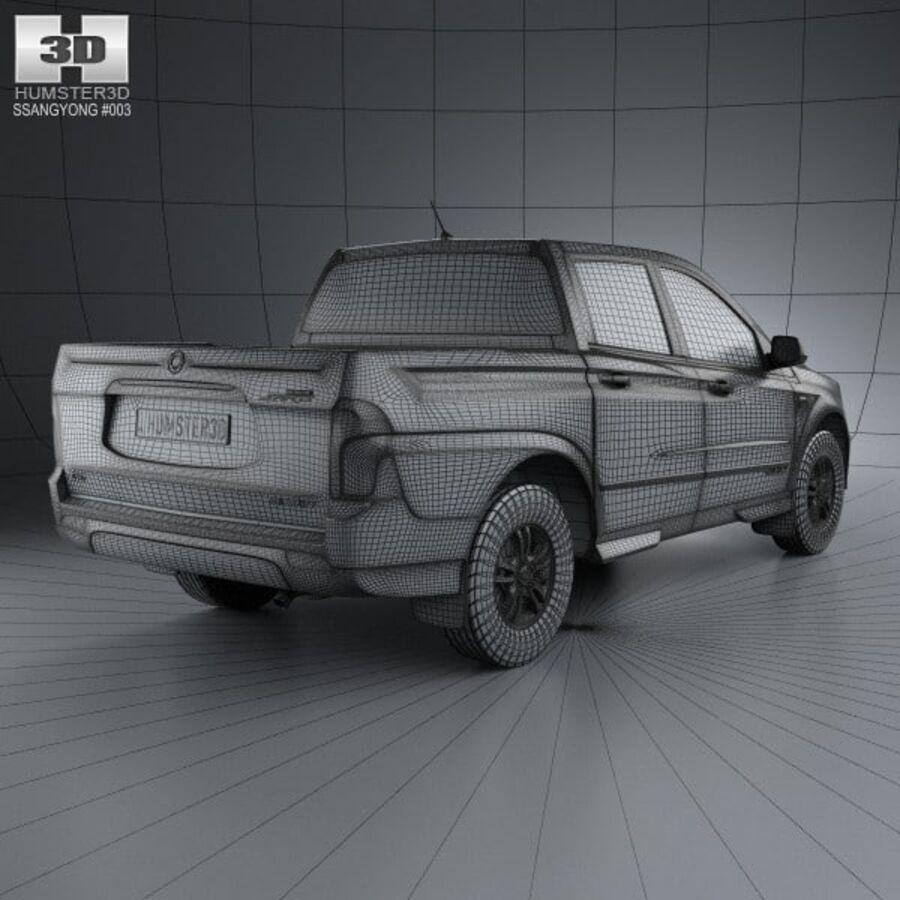 双龙Korando Sports(New Actyon)2012 royalty-free 3d model - Preview no. 4