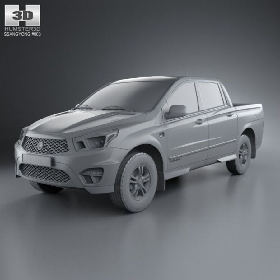 双龙Korando Sports(New Actyon)2012 royalty-free 3d model - Preview no. 11