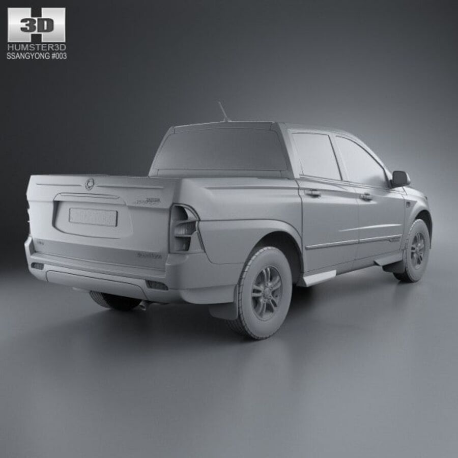 双龙Korando Sports(New Actyon)2012 royalty-free 3d model - Preview no. 12