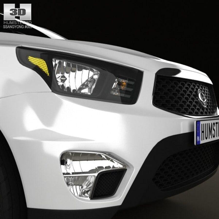 双龙Korando Sports(New Actyon)2012 royalty-free 3d model - Preview no. 10