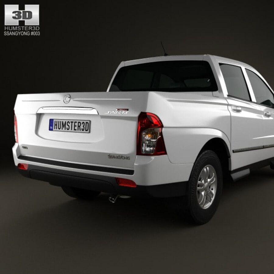 双龙Korando Sports(New Actyon)2012 royalty-free 3d model - Preview no. 7