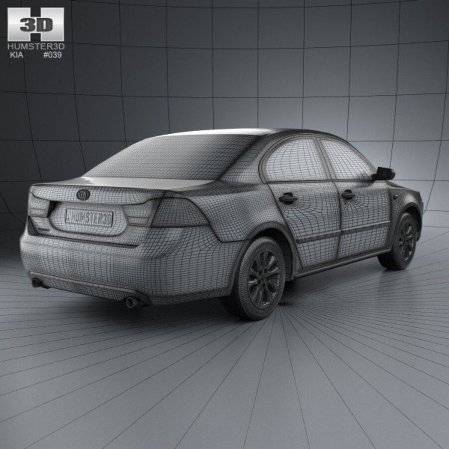 Kia Optima (Magentis) 2010 royalty-free 3d model - Preview no. 4
