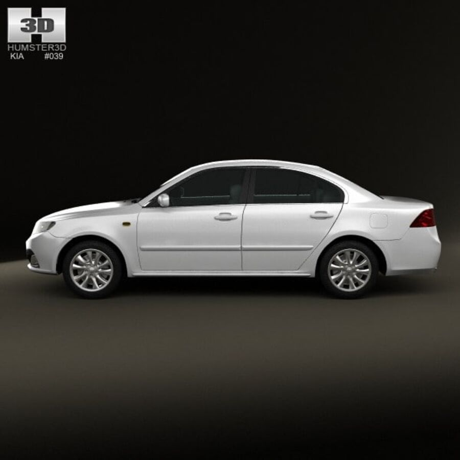 Kia Optima (Magentis) 2010 royalty-free 3d model - Preview no. 5
