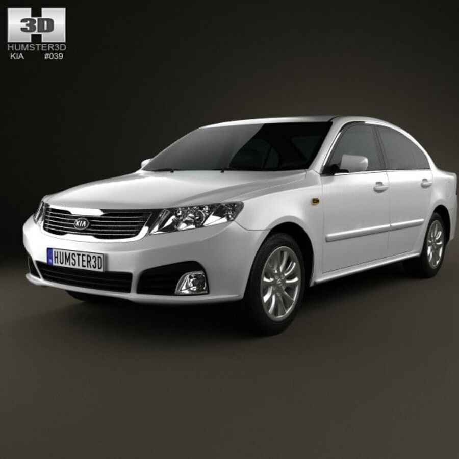 Kia Optima (Magentis) 2010 royalty-free 3d model - Preview no. 6