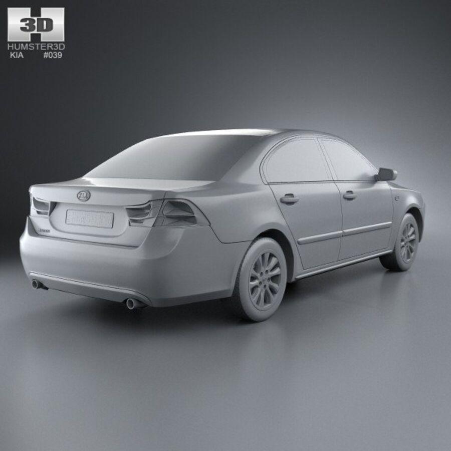 Kia Optima (Magentis) 2010 royalty-free 3d model - Preview no. 12