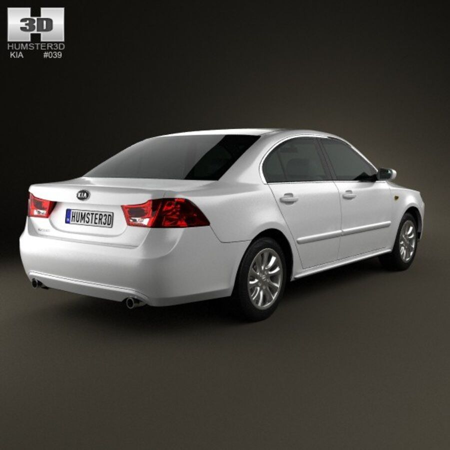 Kia Optima (Magentis) 2010 royalty-free 3d model - Preview no. 2