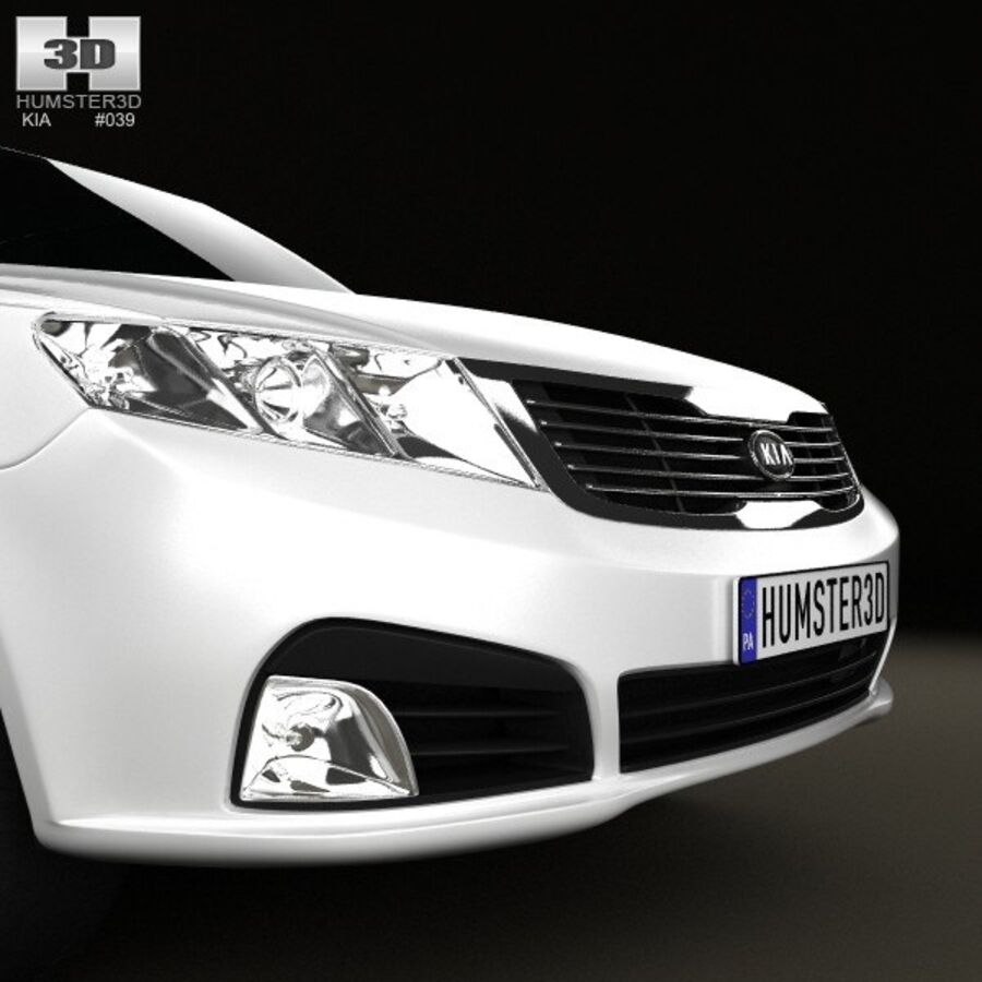 Kia Optima (Magentis) 2010 royalty-free 3d model - Preview no. 10