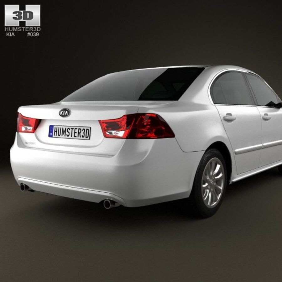 Kia Optima (Magentis) 2010 royalty-free 3d model - Preview no. 7