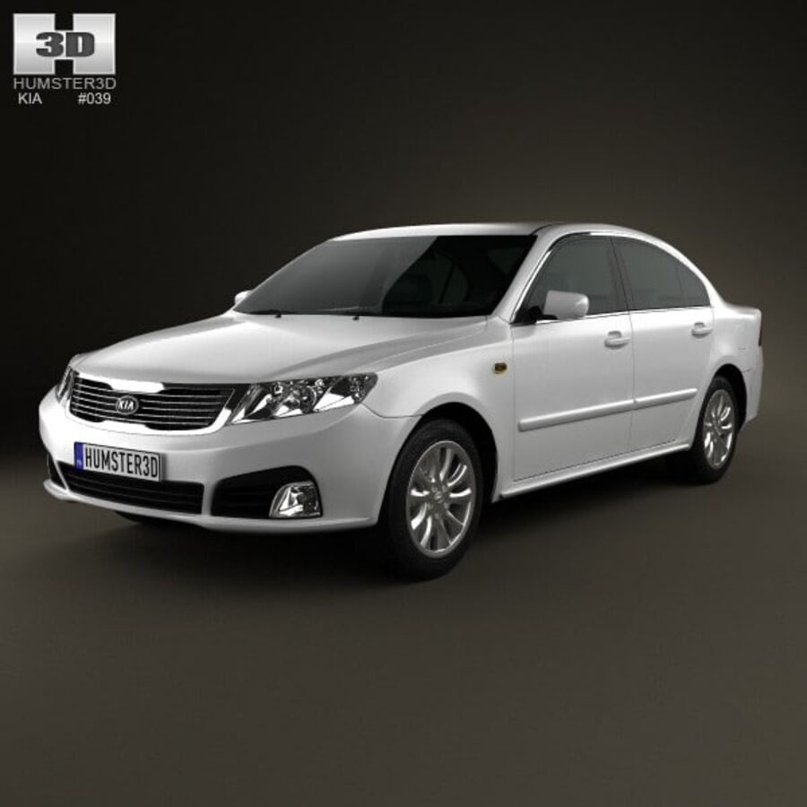 Kia Optima (Magentis) 2010 royalty-free 3d model - Preview no. 1