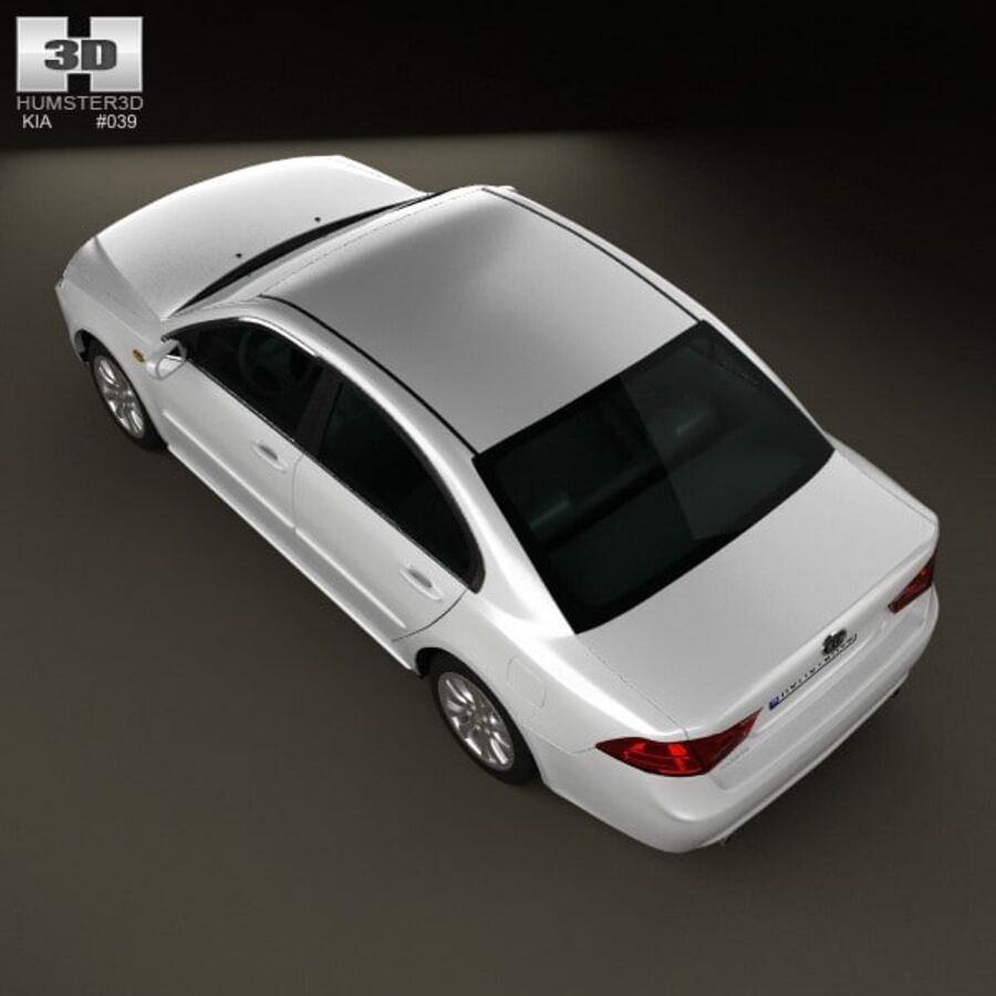 Kia Optima (Magentis) 2010 royalty-free 3d model - Preview no. 9
