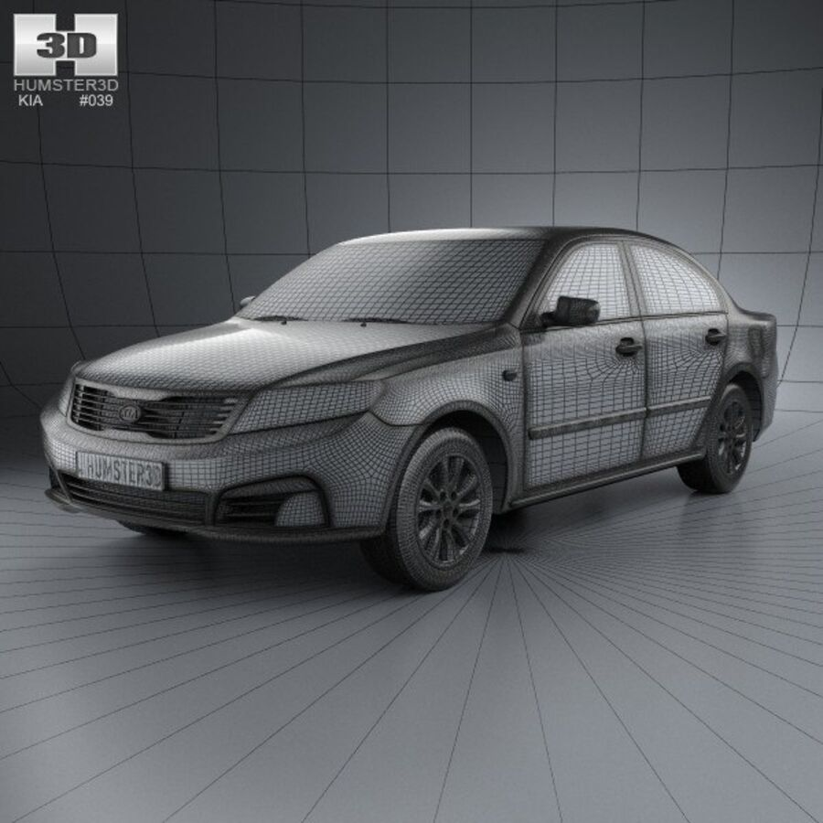Kia Optima (Magentis) 2010 royalty-free 3d model - Preview no. 3