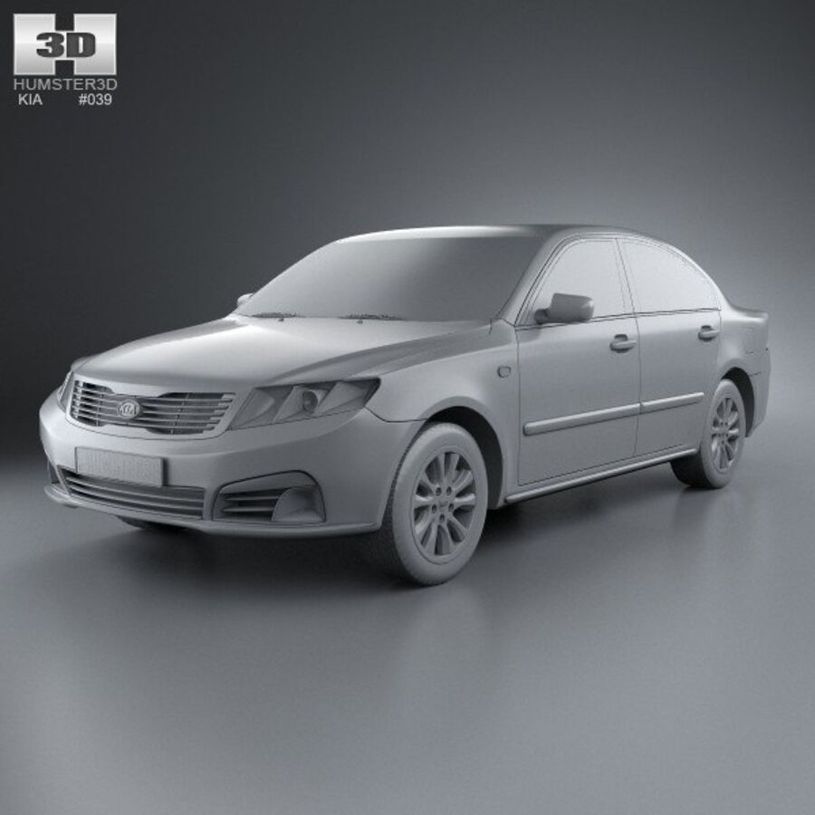 Kia Optima (Magentis) 2010 royalty-free 3d model - Preview no. 11