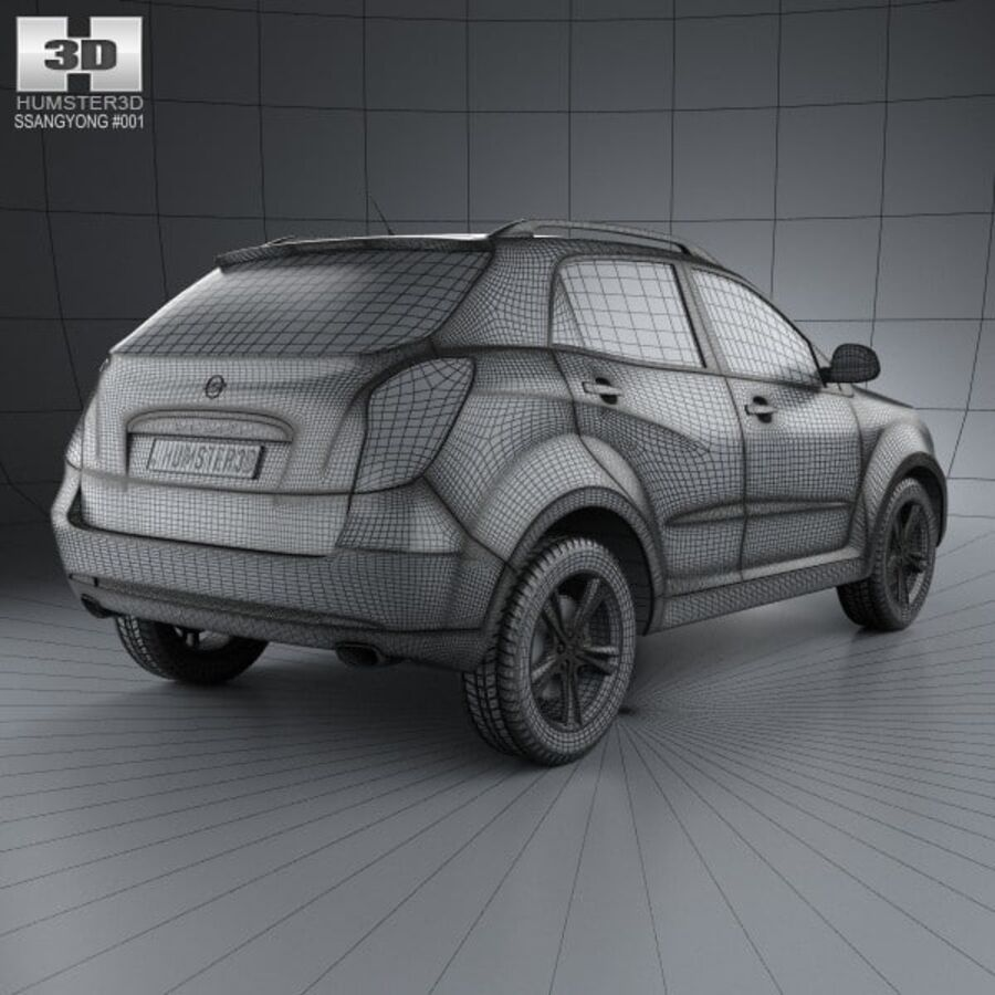 双龙Korando(New Actyon / C200)2012 royalty-free 3d model - Preview no. 4