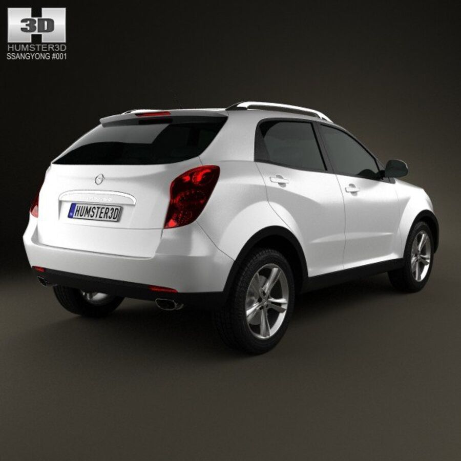 双龙Korando(New Actyon / C200)2012 royalty-free 3d model - Preview no. 2
