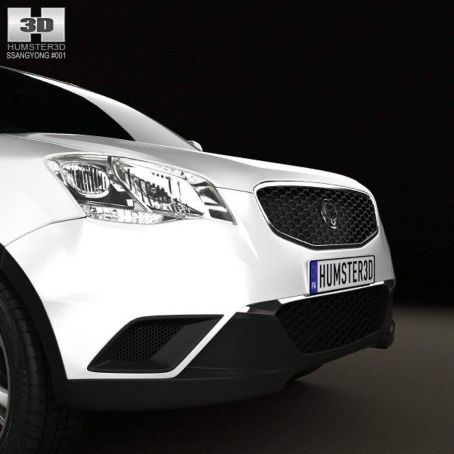 双龙Korando(New Actyon / C200)2012 royalty-free 3d model - Preview no. 10