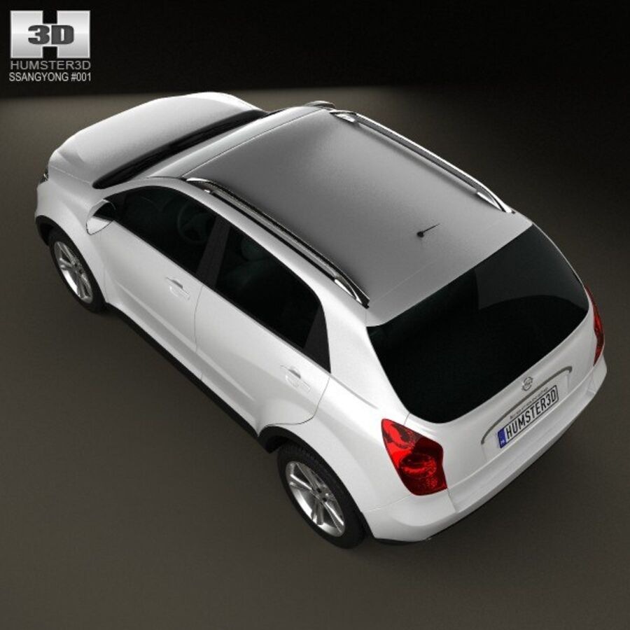 双龙Korando(New Actyon / C200)2012 royalty-free 3d model - Preview no. 9