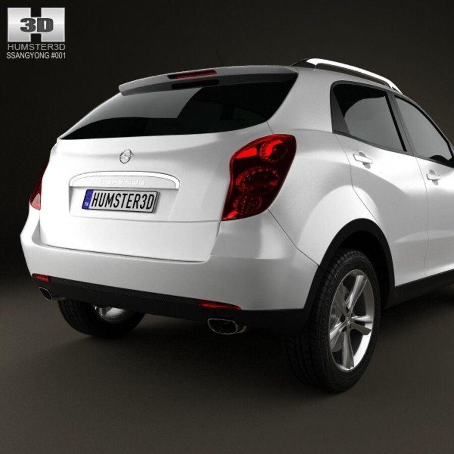 双龙Korando(New Actyon / C200)2012 royalty-free 3d model - Preview no. 7