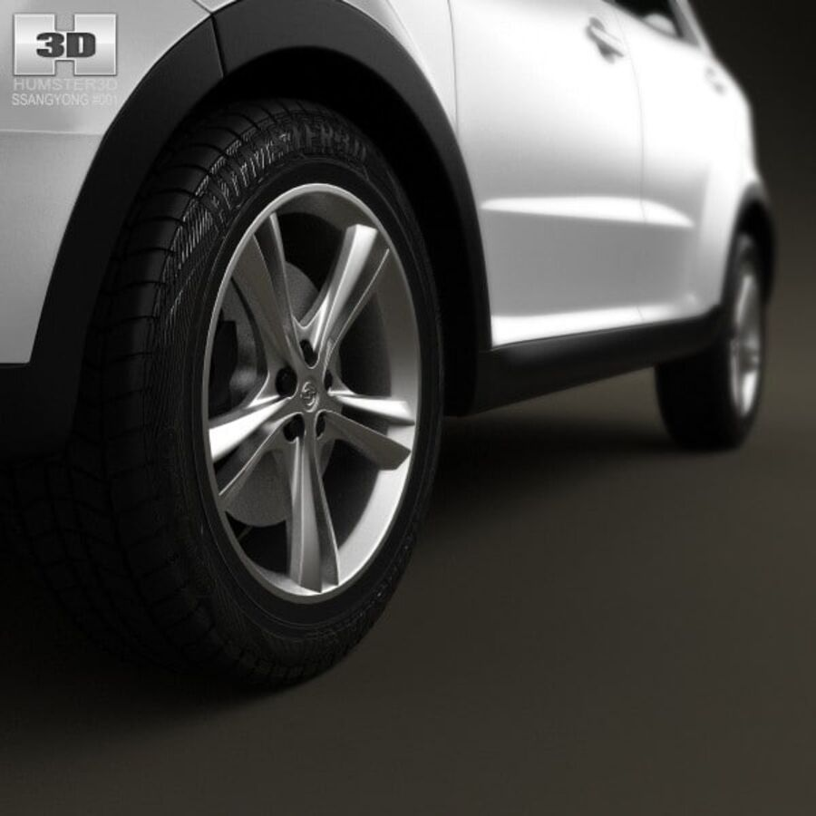 双龙Korando(New Actyon / C200)2012 royalty-free 3d model - Preview no. 8