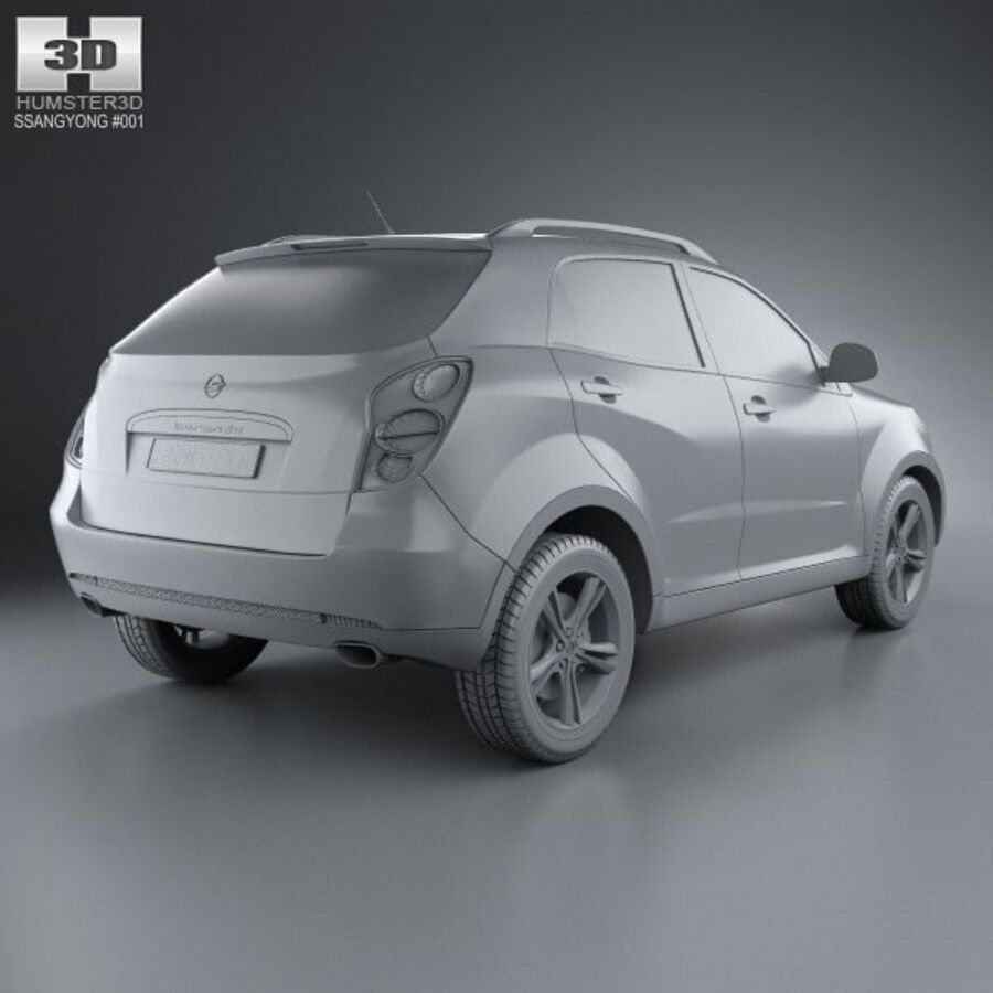 双龙Korando(New Actyon / C200)2012 royalty-free 3d model - Preview no. 12